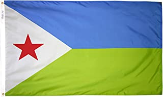 product image for Annin Flagmakers Model 192213 Djibouti Flag 3x5 ft. Nylon SolarGuard Nyl-Glo 100% Made in USA to Official United Nations Design Specifications.
