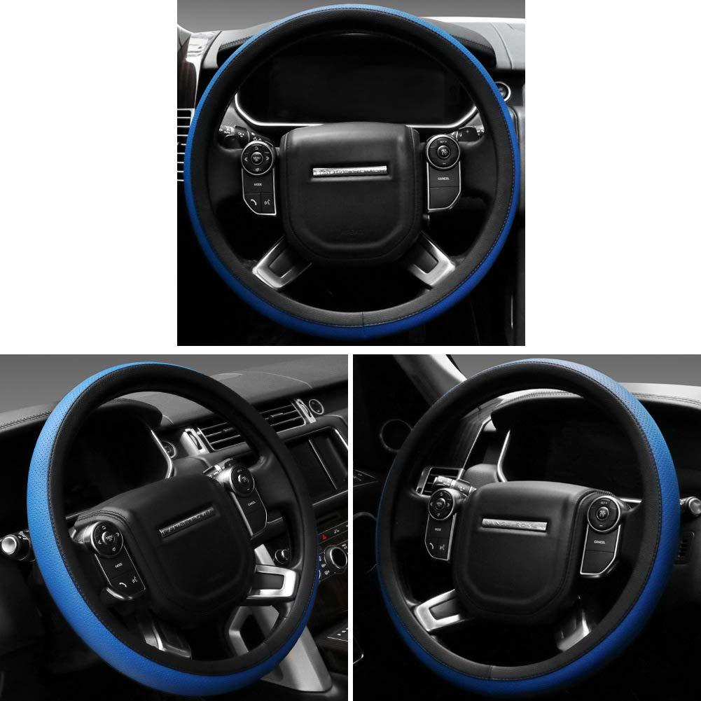 SEG Direct Microfiber Leather Black Steering Wheel Cover for F-150 Tundra Range Rover 15.5-16