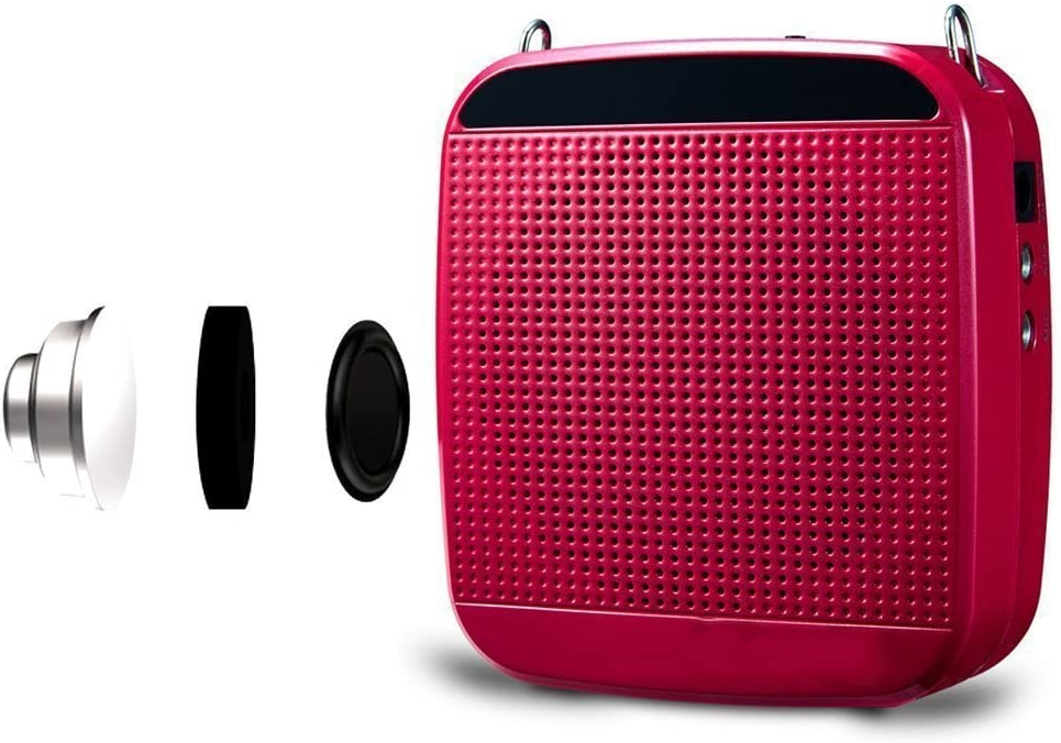 Zoweetek 18W Rechargeable Portable Voice Amplifier with Wired Microphone Headset and Waistband M512-Rose Tour Guide Training Presentation Coaches Supports MP3 Format Audio Playing for Teachers