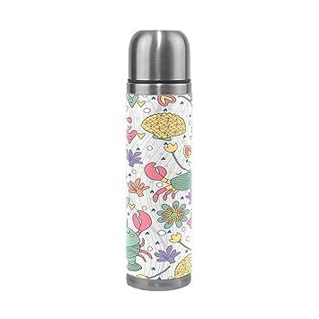 Amazon.com: fennen Thermos botella de agua termo taza bonita ...
