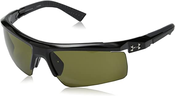 Under Armour Men's Core 2.0 Sunglasses Shiny Black / Game Day Lens 69 mm