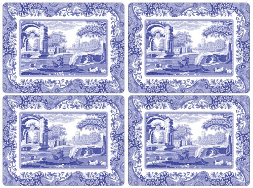 - Spode Blue Italian Placemats, Set of 4