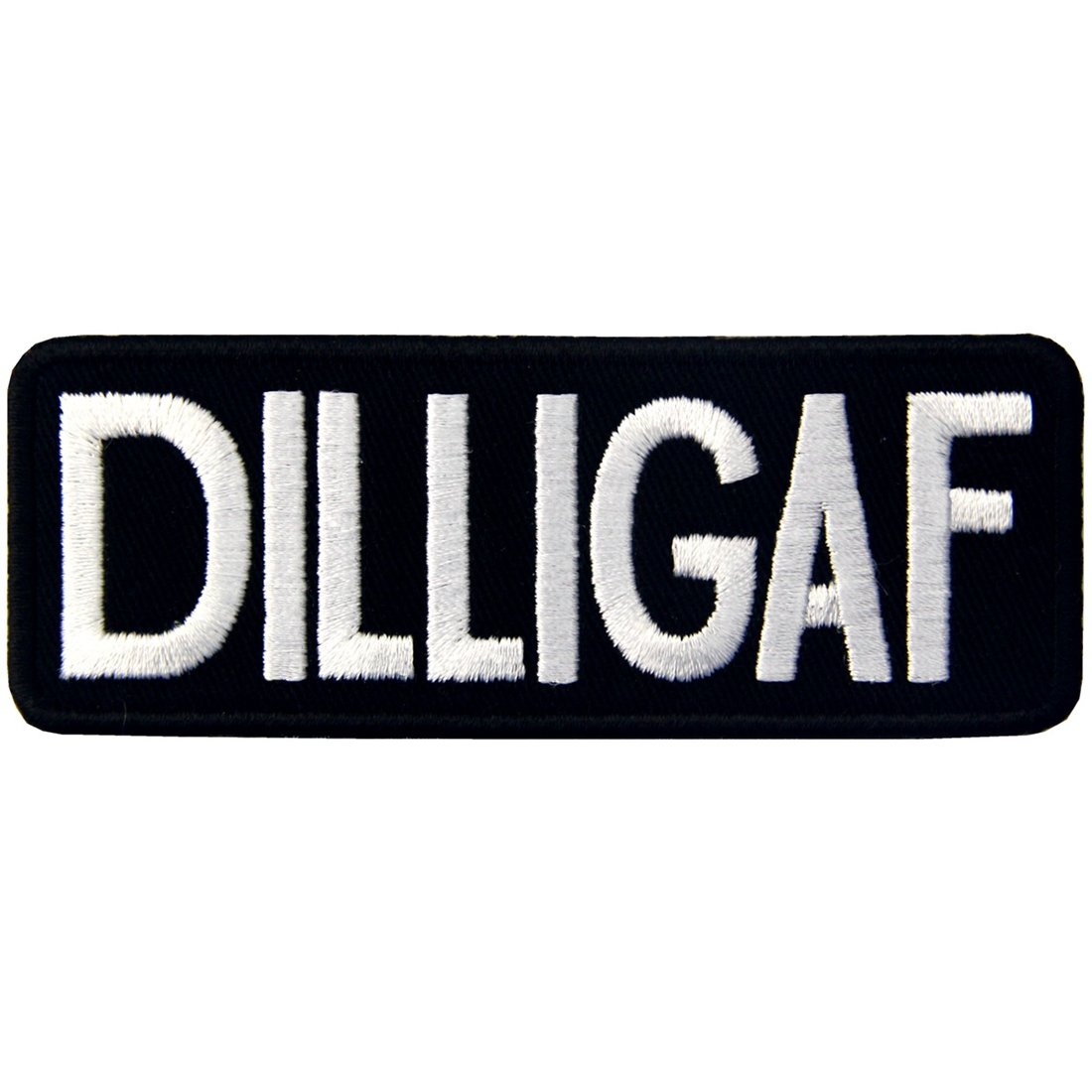 DILLIGAF Patch Biker Embroidered Applique Badge Iron On Sew On Emblem EmbTao