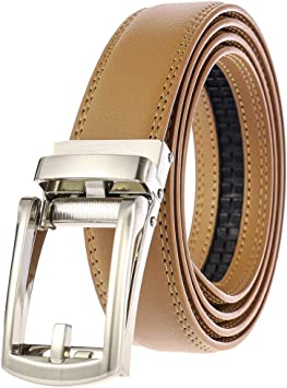 Men/'s Leather Waist Strap Buckle Waistband Automatic Belt