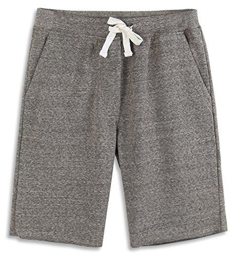 HARBETH Men's Casual Soft Cotton Elastic Fleece Jogger Gym Active Pocket Shorts...