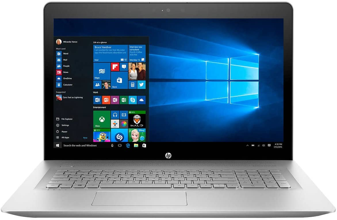 HP Envy 17.3-Inch FHD, 7th Intel Core i7-8500U, 16GB DDR4 RAM, 1TB 7200RPM HDD