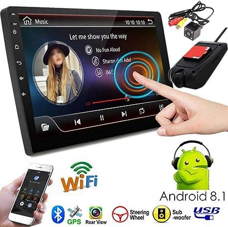 PolarLander Radio del Coche Sistema Android de 9 Pulgadas Auto estéreo 2.5D Pantalla capacitiva Bluetooth WiFi GPS Quad Core SWC FM BT USB con cámara ...
