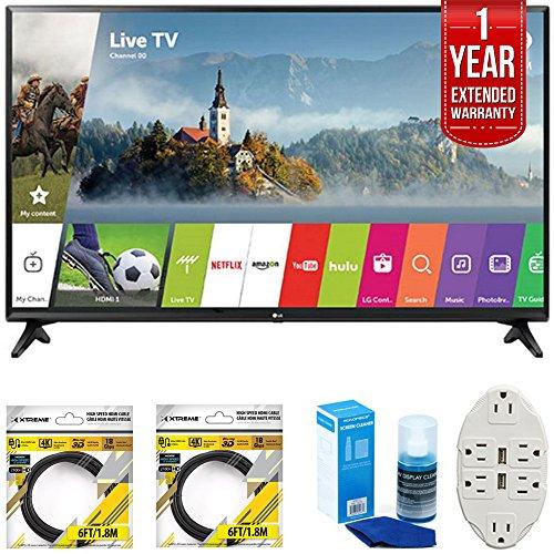 "LG 43"" Class Full HD 1080p Smart LED TV 2017 Model (43LJ5..."