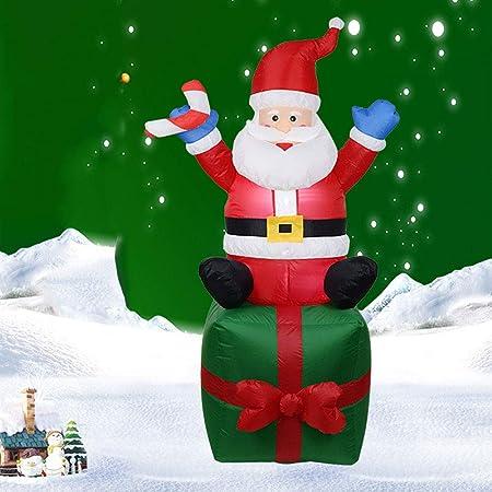 Hinchable Navidad Papá Noel con Luces LED, al Aire Libre Navidad Decoración Casa para Jardín Casa Interior o Exterior,A,1.8M: Amazon.es: Hogar