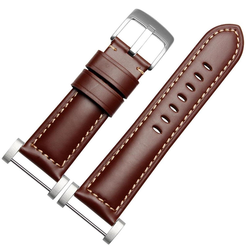 AloneA GenuineLeather Watch交換用バンドストラップ+ラグアダプタfor Suunto Core  ブラウン B01M0NQ06U