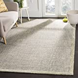 Safavieh Abstract Collection ABT220B Contemporary Handmade Gold and Grey Premium Wool Area Rug (8′ x 10′)