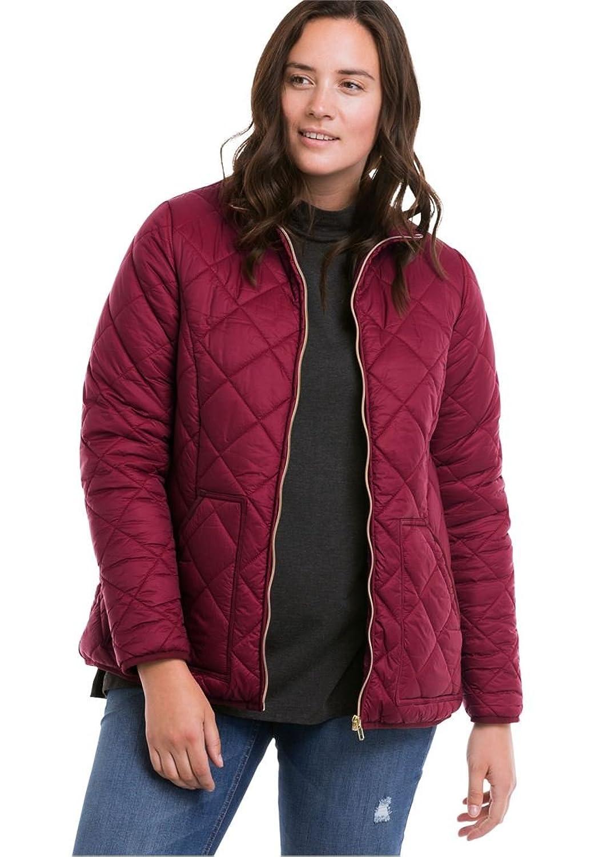 Ellos Women's Plus Size Quilted Zip Front Jacket