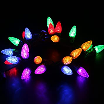 Connectable Outdoor Christmas Lights: [UL Listed]MAXINDA (TM)Connectable Outdoor String Lights,18 ft 25,Lighting