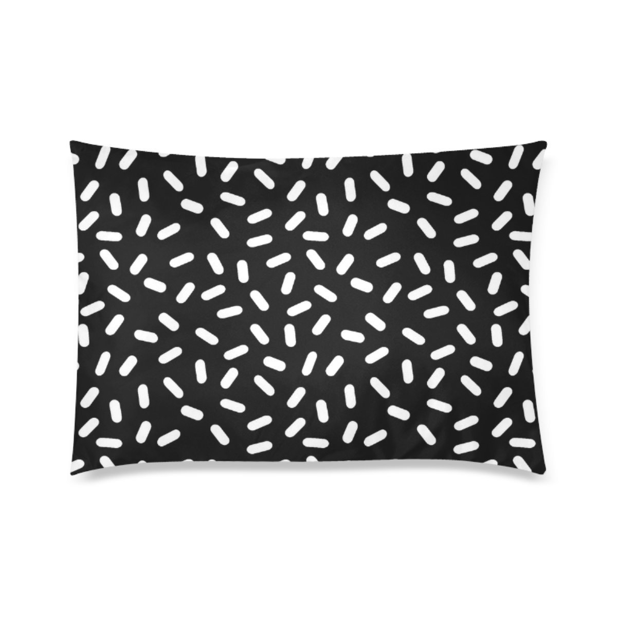 Personalized Bingo Black And White Personalized Pillowcases Zippered Pillow Covers 20 by 30 Inches Two Sides