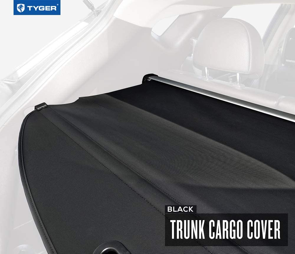 Tyger Auto TG-TC9Y1003B Black 1 Black Retractable SUV Rear Trunk Cargo Cover Shield Fits 2010-2015 Hyundai Tucson 1 Luggage and Baggage in SUV Rear Cargo Trunk Non-Carb Compliant