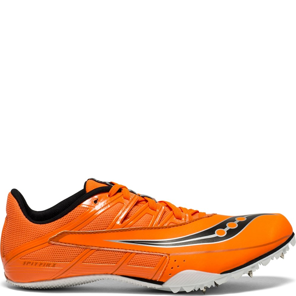 Saucony Men's Spitfire 4 Track and Field Shoe, Orange/Black, 13 Medium US