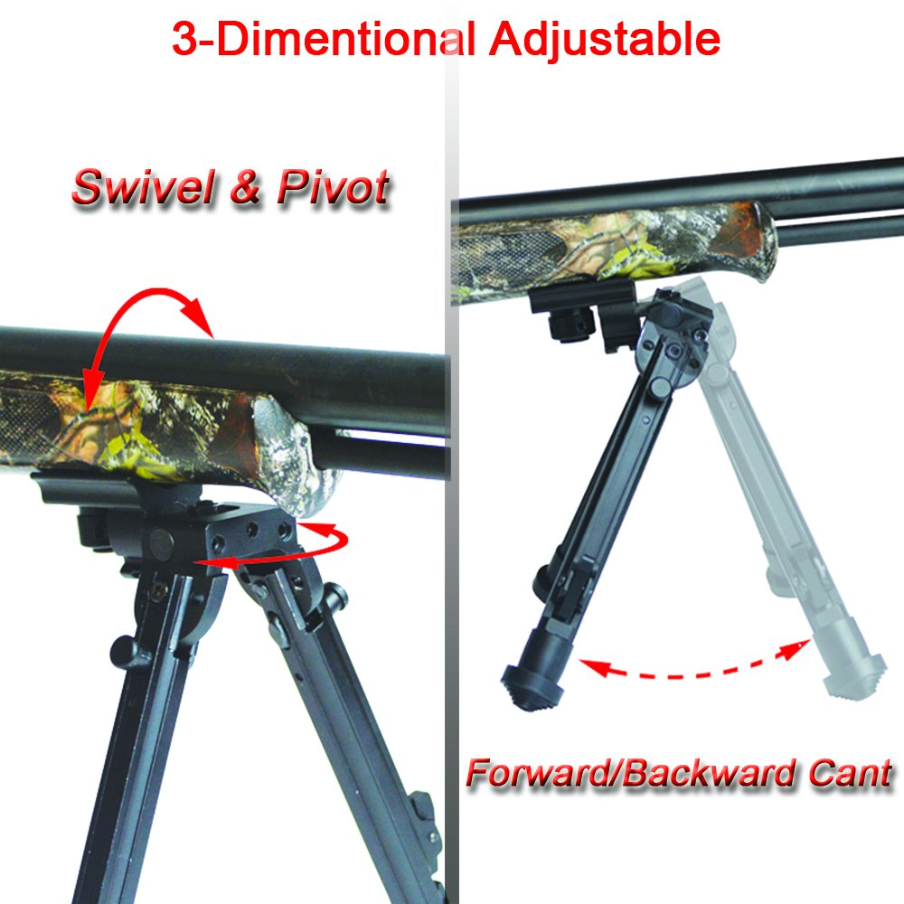 Lion Gears Scout-Pod 7''-9'' Tactical Button-Lock 3-Position Folding Bi-pods, 3D Adjustable (Forward/Backward Cant, Swivel and Pivot), with Sling Stud Mounting Deck, SP-3D06SL by Lion Gears (Image #3)