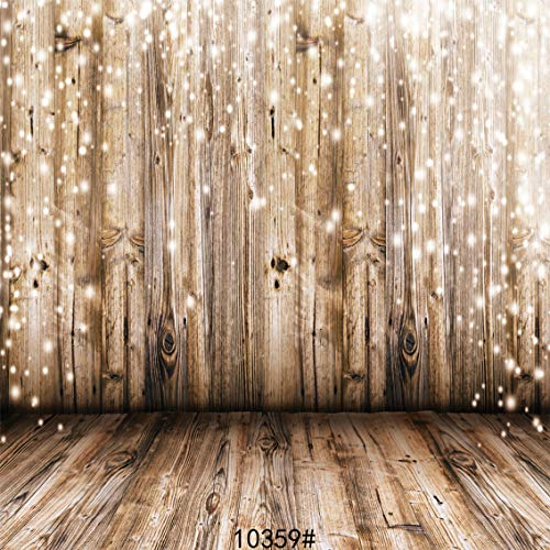 SJOLOON 8x8ft Vinyl Photography Background Wood Floor Wall Scene Backdrop Photo Studio Props 10359 ()