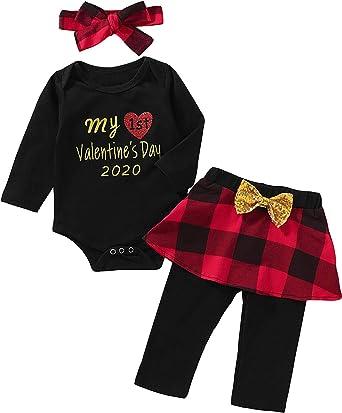 Black, 6 Months Festive Threads Unisex Baby Babys First Valentines Day T-Shirt Romper