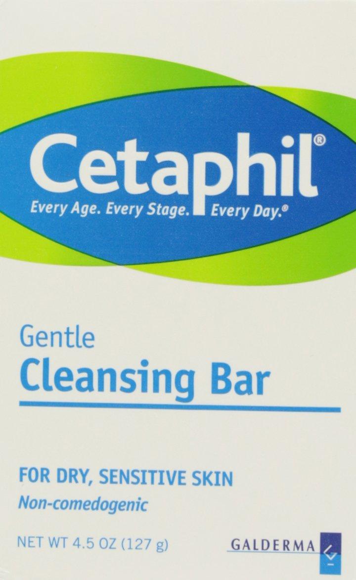 Cetaphil Gentle Cleansing Bar, 4.5 Ounce (3 Count) : Bath Soaps : Beauty