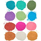 Maddie Raes Slime Pearl Pigment Powder, Variety Pack - 12 Dye Colors - XL 28g Packages, Great for Slime or Soap Making