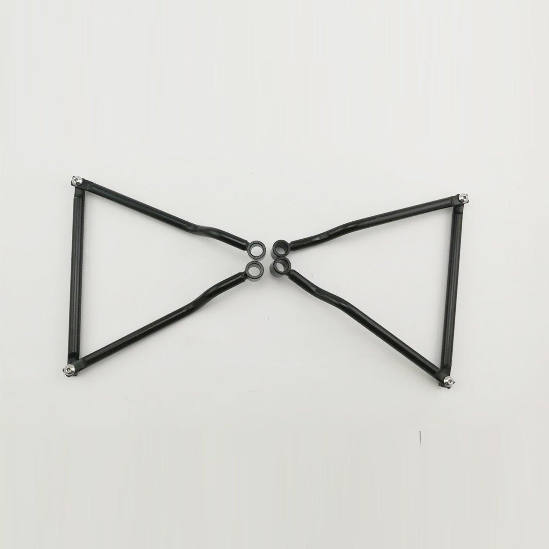 Negro Anzene Soportes de barras de soporte de alforja para HARLEY HONDA SUZUKI YAMAHA KAWASAKI TRIUMPH