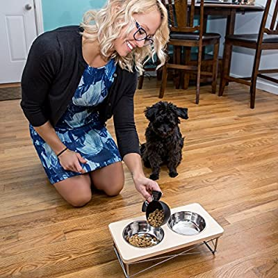 Easyology Pets Stainless Steel Elevated Feeder Bowls | Ergonomic & Antibacterial Feeding Bowls For Cats & Dogs | For Treats, Water, Travel & More