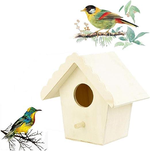 Tlwrnop Casas para Pájaros Nidos para Pájaros Casa De Pájaros De Madera para Jaulas De Pájaros