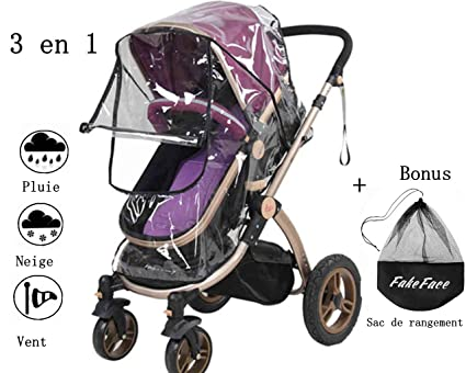 BaoCore - Protector de lluvia para carrito, impermeable, universal, protección contra rayos UV y viento, compatible con todo tipo de cochecito
