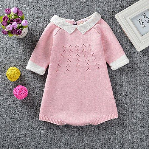 350c87ed2 zooarts Kid niñas de punto ropa Body 3/4 Sleeve Pelele niño jersey vestido  niños ropa (rosa), Rosa, 70 (6-12 Months) Durable Modelando - ...