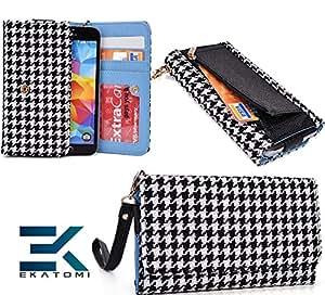ZTE Blade Q Clutch Wallet Cover Phone Case WHITE | BLACK *BONUS Ekatomi Screen Cleaner