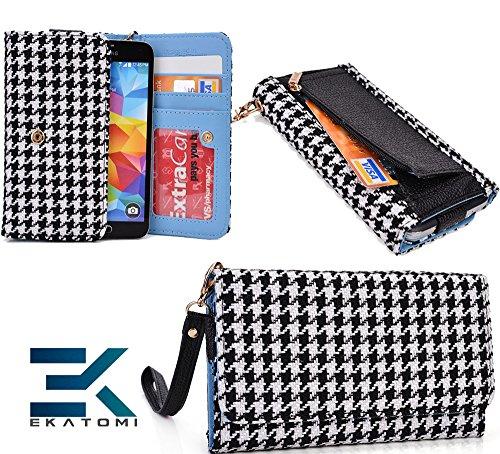 Retro Metro BLACK & WHITE |Ekatomi™ Compatible W/ ZTE Easy Touch 4G Wristlet Phone Case Holder