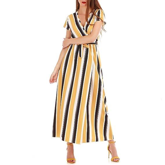 e81395f399886 La Modeuse - Robe longue fluide à rayures