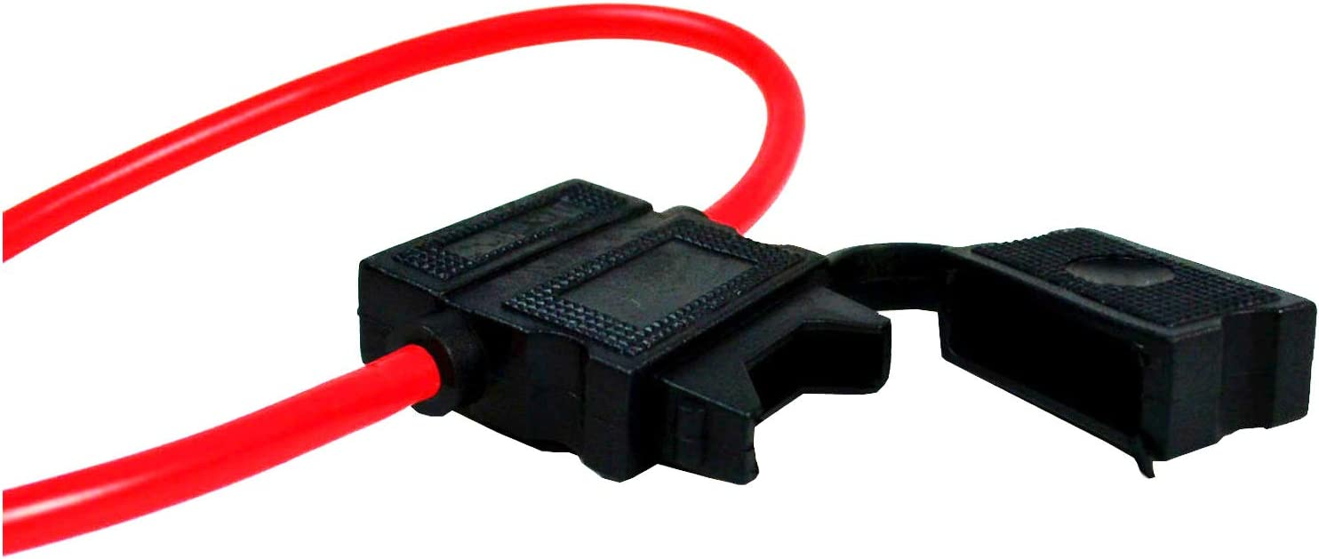 20 Pack 16 Gauge ATC Heavy Duty Fuse Holder 12 Volt Automotive Copper Wire Cable