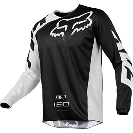 7ffee0ad1 Amazon.com  Fox Racing 180 Race Men s Off-Road Jersey - Black ...