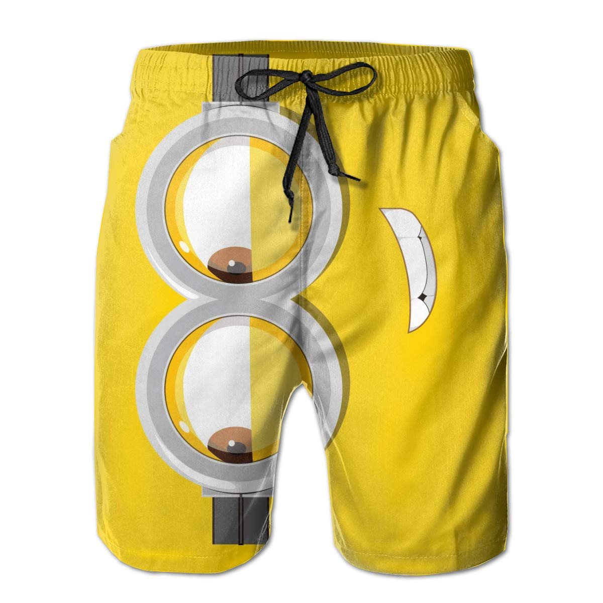 be23848709 Lovely Minion Face Men's Beach Shorts Linen Casual Fit Short Swim Trunks    Amazon.com