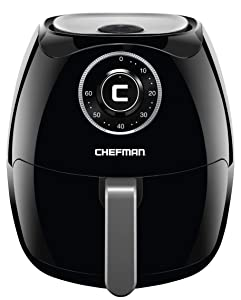 Chefman 6.5 Liter/6.8 Quart Air Fryer with Space Saving Flat Basket Oil Hot Airfryer with Dishwasher Safe Parts 60 Minute Timer and Auto Shut Off, BPA Free, Family Size, X-Large, Manual