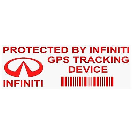 5 x ppinfinitigpsred GPS rojo dispositivo de seguimiento de seguridad ventana pegatinas 87 x 30 mm