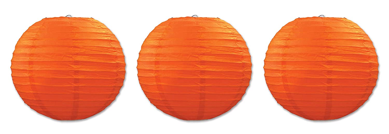 orange Beistle 54570B 3Pack Paper Lanterns, 91 2Inch