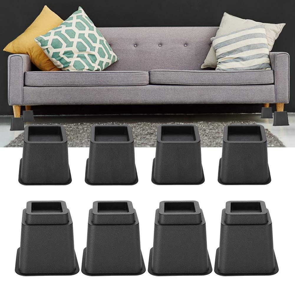 Amazon.com: Elevadores de cama ajustables, 8 piezas ...