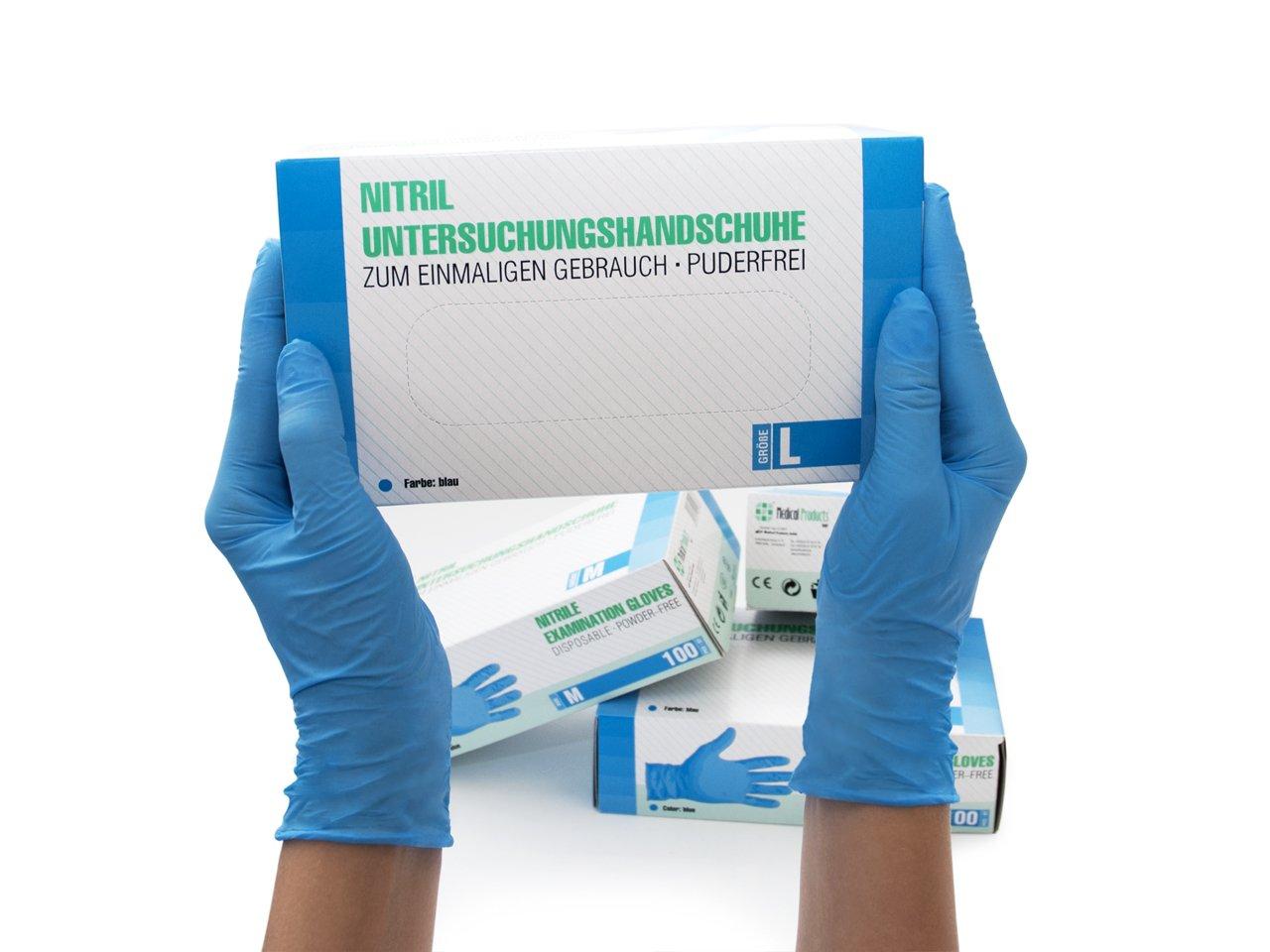 ungepudert Vinyl latexfrei blau medizinische Zwecke f/ür Lebensmittel 100 St/ück in 1 Box Einweghandschuhe transparent