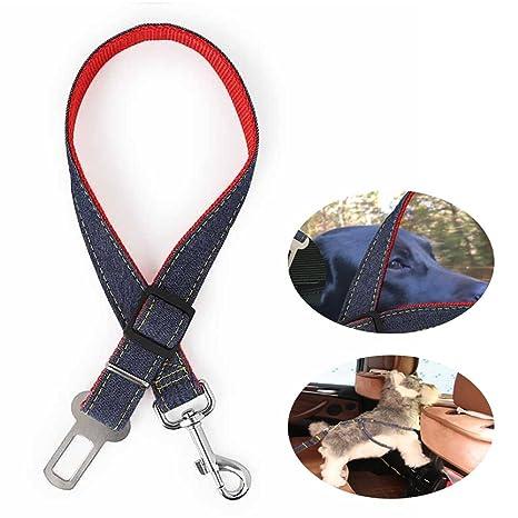 KOBWA Cinturón de Seguridad Ajustable para Mascotas, Perro, Gato, para Coche, para