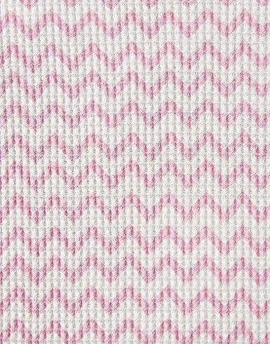 Rose Pink Zig Zag Joules Baby Waffle Babygrow