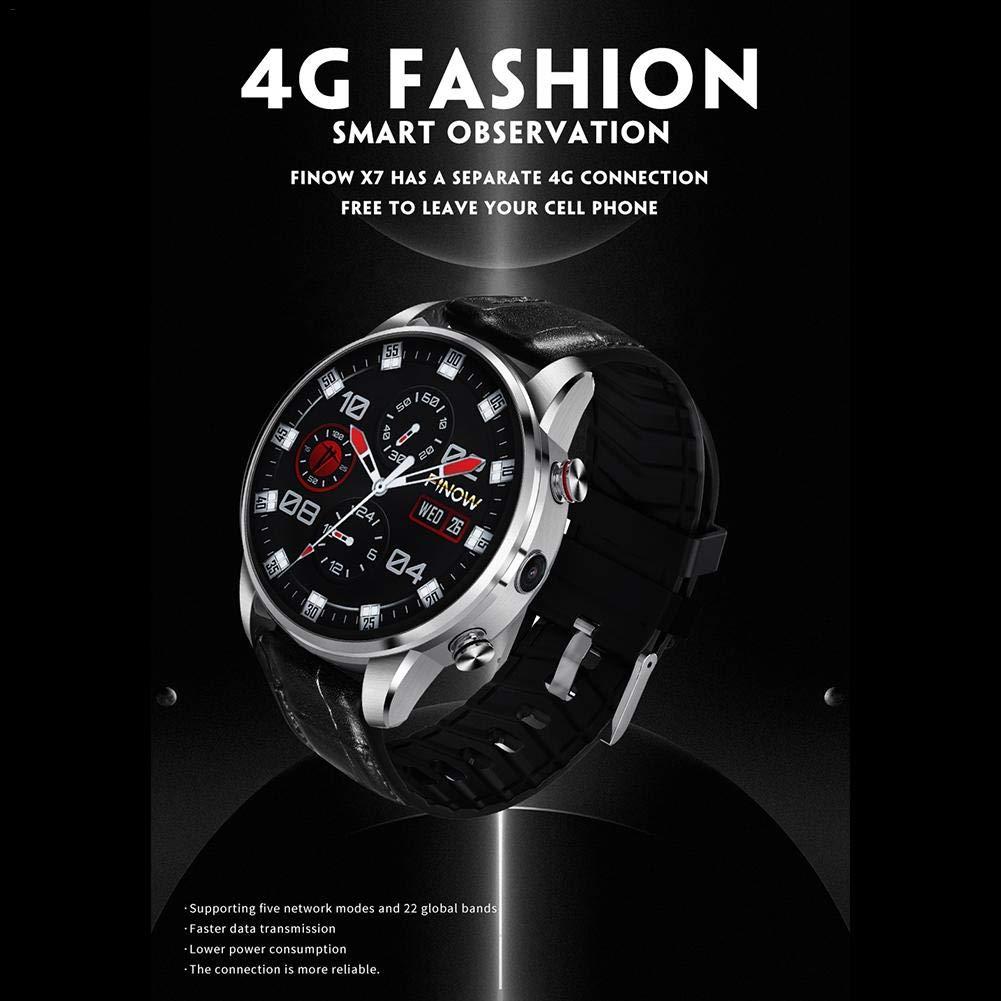 Glory.D Reloj Inteligente X7 4G 1.39 Pulgadas Android 7.1 Quad ...