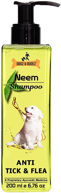 Dogz & Dudez Dogs & Cats Shampoo Anti Tick & Flea, 200 ml