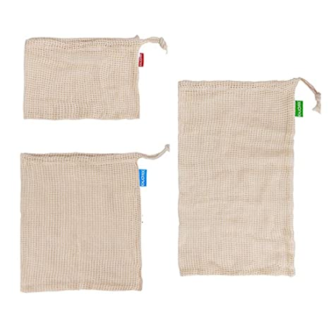Chiic Bolsas Reutilizables de Malla de algodón - Bolsa de la ...