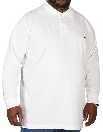 Bigdude - Polo - Manga Larga - para Hombre Blanco Blanco 7X-Large ...