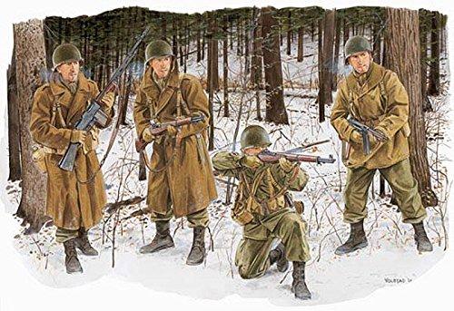 プラッツ 1/35 第二次世界大戦 アメリカ陸軍 第101空挺師団兵 冬季装備(バストーニュ1944) プラモデル DR6163