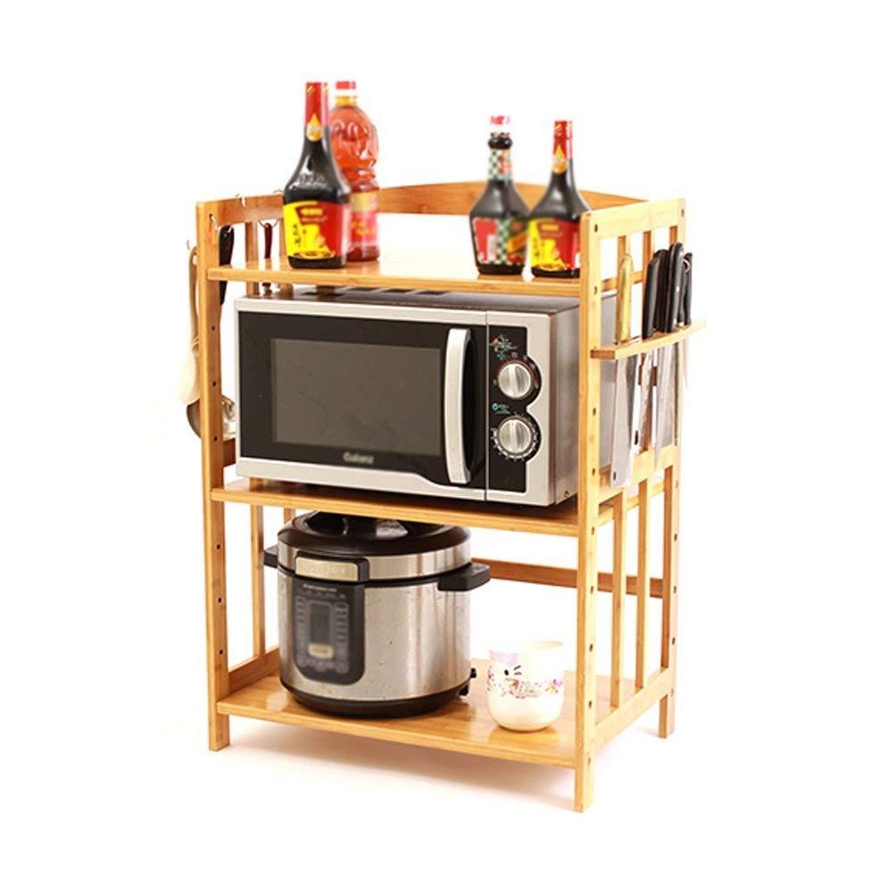 YCT 収納キャビネット、キッチン電子レンジ棚多層電気オーブン木製棚ステンレススチール収納スタンドを整理 (サイズ : 47x38x46cm) B07R8GM51T  47x38x46cm