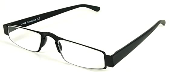 b3f909e92bd I-Mag Executive Slim Metal Reading Glasses with Slide Open Hard Case  (+1.00